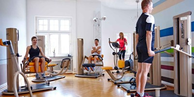 Fitness in der villa aktiv